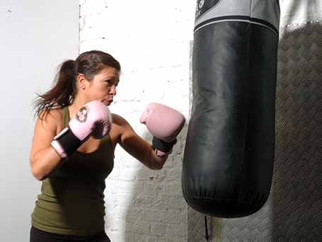 punching bag release anger